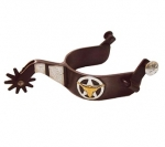 Ranger Star and Longhorn Antique Brown Men's Spur