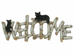 River's Edge Birch/Bear Welcome Plaque