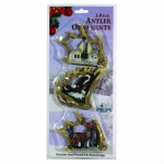 River's Edge Midwest Antler Ornament (Pack of 3), Brown