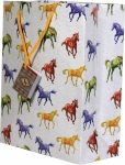 Rivers Edge Colored Horses Gift Bag - Medium