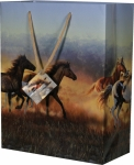 Rivers Edge Running Horses at Sunset Gift Bag - Medium