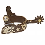 Robart Ladies Long Shank Texas Star Cutting Spur