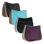Roma Ecole Contrast Stitch Swirl Quilt Close Contact Saddle Pad
