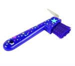ROMA STARS PLASTIC HOOF PICK WITH BRUSH