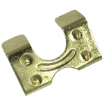 Rope Clamp Stamped Brass Plated