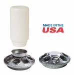 Round Feeder Jar and Base GALV 6IN
