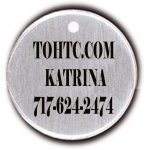 Round Nickel Dog Tag