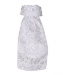 Royal Highness Ladies Pre-Tied Satin Brocade Stock Tie - White