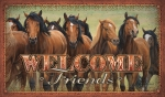 Running Horses Welcome Mat