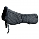 Saddle Fitting Half Pad Black
