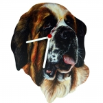 Saint Bernard Head Shaped Clock