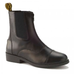 SAXON EQUILEATHER ZIP FRONT BOOTS