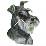 Schnauzer Head Shaped Clock