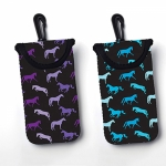 Shades of Horses Neoprene Zipper / Velcro Smart Cell Phone Case