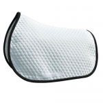 Shaped Baby Quilted Pad - Small Quilted White/Black