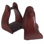 Shenandoah Leather Covered Trail Stirrup - Brown