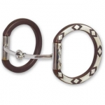 Sherry Cervi Diamond Dee Ring Snaffle Bit - Smooth Mouth