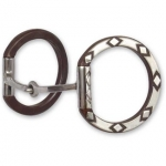 Sherry Cervi Diamond Dee Ring Snaffle Bit - Square Mouth