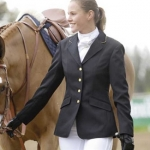 Shires Equestrian Ladies Show Coat with Gold Trim