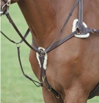 Shires Five Point Padded Leather Breastplate