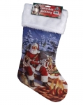 Sitting Santa Christmas Stocking 20""