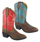 Smoky Mountain Kids Western Cactus Flower Rubber Sole Boots