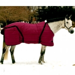 Snuggie Pony Stable Blanket-Burgundy