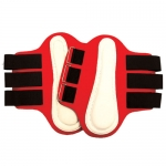 Splint Boots w/White Patches Small Red