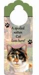 Spoiled Cat Doorknob Notes - Calico Cat