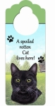 Spoiled Cat Doorknob Notess - Black Cat
