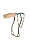 Stainless Steel Hackamore Bit Leather Noseband