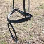 Thinline Crank Noseband with Flash Caveson