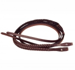 Tory Braided Bridle Leather Rein with Chicago Screw bit Ends