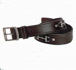 "Tory Leather 1 1/2"" Snaffle Bit Belt with Nickel Buckle"