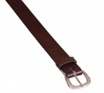 Tory Leather 1 1/2 Plain Leather Belt with Nickel Buckle