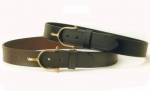 "Tory Leather 1 1/2"" Black Belt with Solid Brass Spur Buckle"