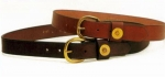 "Tory Leather 1 1/4"" Shot Shell Leather Belt"