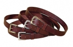 "Tory Leather 1 1/4"" Plain Leather Belt"