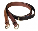 Tory Leather 1 1/4 Stitched Leather Belt with Nickel Buckle