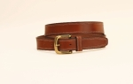 "Tory Leather 1 1/4""  Bridle Leather Doubled and Stitched Belt"