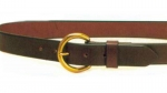 "Tory Leather 1 1/4"" Plain Belt With Brass Buckle"
