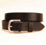 "Tory Leather 1 1/4"" Plain Strap Belt with Square Buckle"