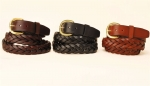"Tory Leather 1 1/4"" Braided Belt"