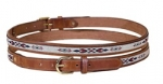 "Tory Leather 1"" Belt with Synthetic Horse Hair Belt"