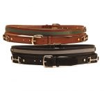"Tory Leather 1"" Belt with Ribbon and Snaffle Bits"