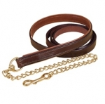 "Tory Leather 1"" Padded Lead with 24"" Chain"