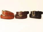 "Tory Leather 1"" Round Raised Leather Belt"