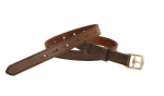 "Tory Leather 1"" Stirrup Leather Belt with 14 Holes"
