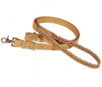 "Tory Leather - 1"" x 7' Five Plait Braided Harness Leather Roping Rein"