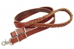 "Tory Leather - 1""x 7' Five Plait Burgundy Latigo Roping Rein"